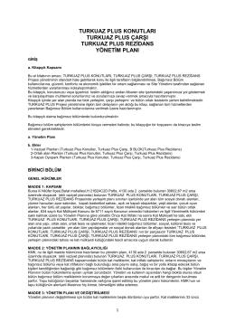 Yönetim Planı - Turkuaz Plus