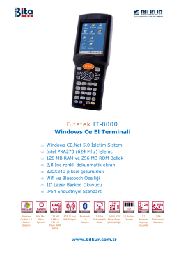 Bitatek IT-8000 Teknik Özellikler