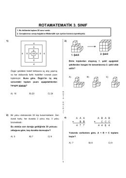 RotaMatematik 3. Sınıf Yarışma Soruları
