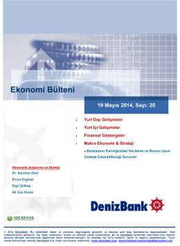 Yurt Dışı Gelişmeler DenizBank Ekonomi Bülteni 19