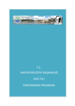 2015 Performans Programı
