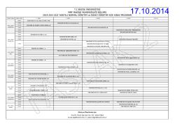 TC BOZOK ÜNİVERSİTESİ MMF MAKİNE MÜHENDİSLİĞİ BÖLÜMÜ