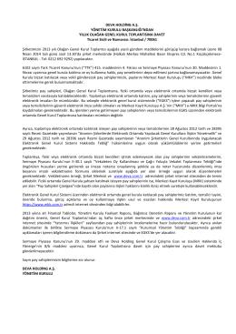 2013 DEVA Genel Kurul Çağrı (PDF