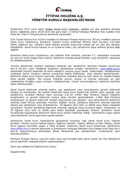 EK - İttifak Holding