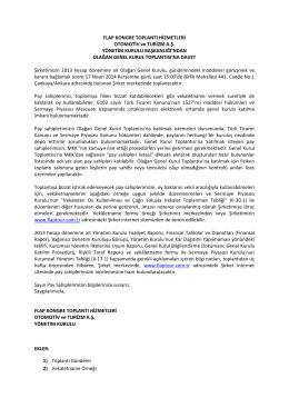 FLAP KONGRE TOPLANTI HİZMETLERİ OTOMOTİV ve