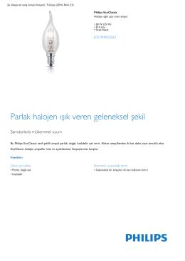 Product Leaflet: 28 W (35 W) E14 duy Halojen eğik uçlu mum ampul