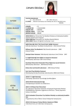 iletişim kişisel bilgiler eğitim stajlar eğitim ve sertifikalar