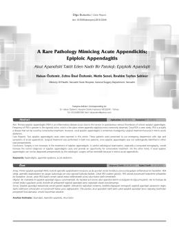 Epiploic Appendagitis