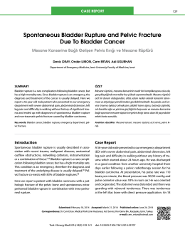 Spontaneous Bladder Rupture and Pelvic Fracture