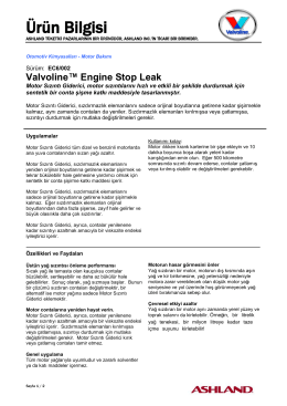 Lubricants - Engine Oil - Passenger Car Motor Oils