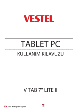 TABLET PC - Vestel Driver Web Sitesi