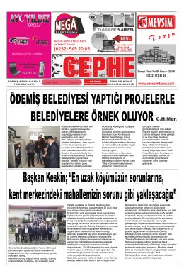 28.01.2014 Tarihli Cephe Gazetesi