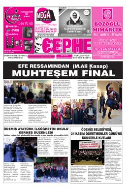 24.11.2014 Tarihli Cephe Gazetesi
