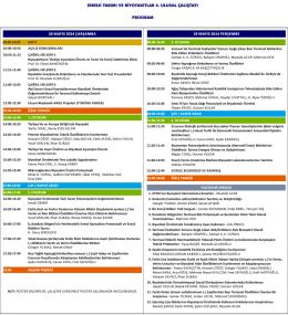 Çalıştay Programı - Enerji Tarımı ve Biyoyakıtlar 4. Ulusal Çalıştayı