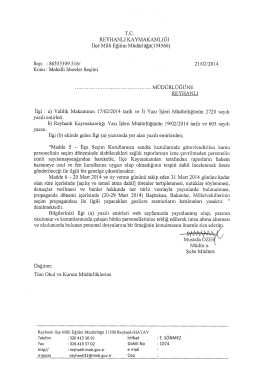 Mahalli idareler Seçimi - reyhanlı ilçe millî eğitim müdürlüğü