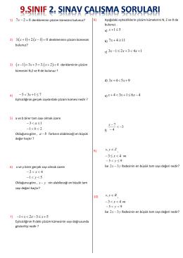 1. dönem 2. sınav çalışma soruları