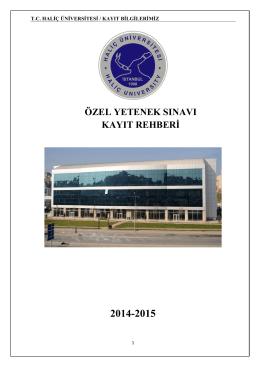 kayıt adımları - Haliç Üniversitesi