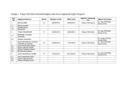 Çizelge 1. Trakya TAE Edirne Ekmeklik Buğday Islah Kursu