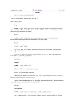 Türk Gıda Kodeksi Bebek Formülleri Tebliği için tıklayınız.
