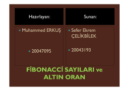 FİBONACCİ SAYILARI ve ALTIN ORAN