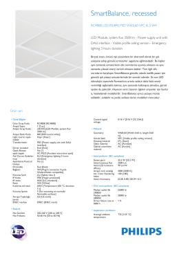 Product Leaflet: Acil aydınlatmalı SmartBalance gömülü