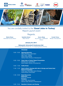 Good Jobs in Turkey, 24 Ocak 2014