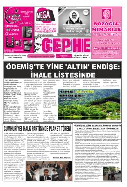 03.12.2014 Tarihli Cephe Gazetesi