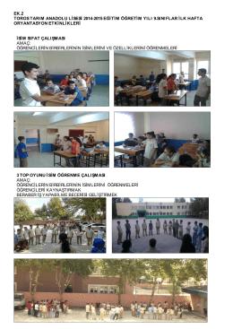 Matematik Öğretmenimiz Türkay TOL Eşliğinde 9. Sınıf Oryantasyon
