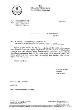 eğitim bölgesi zümre başkanları toplantısı 10.02.2015 11:27