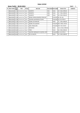 Sınav Tarihi : 09.02.2015