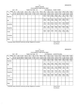 Etlik AİHL Orta okul Ders programı 09/02/2015