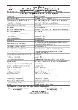 05.03.2015 - Kartal Koşuyolu Yüksek İhtisas Eğitim ve Araştırma