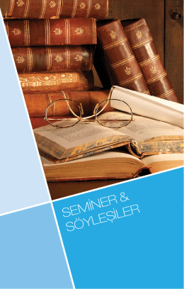SEMİNER & SÖYLEŞİLER