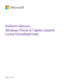 Windows Phone 8.1 işletim sistemli Lumia