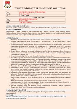türkiye üniversiteler oryantiring şampiyonası