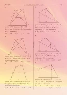 8 AE = , 4 ED = , 6 BF = , DL LB = KC = FC x 5 EF = , DF FB = EC = +