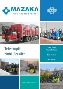 Teleskopik Mobil Forklift - MAZAKA Teleskopik Mobil forklift ve