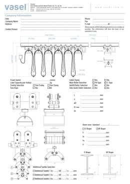 Order Form for I beam Festoon Systems