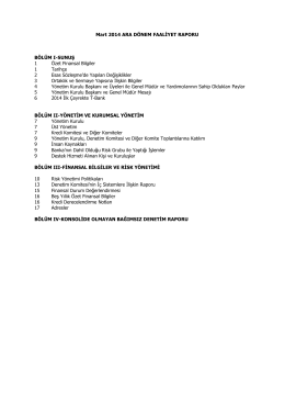 Faaliyet raporu-Mart 2014
