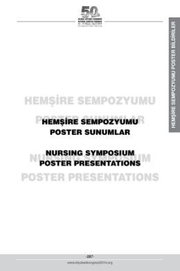 hemşire sempozyumu poster bildiriler