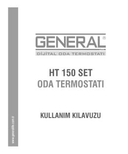HT-150-SET Kablosuz Oda Termostatı Kullanma Kılavuzu