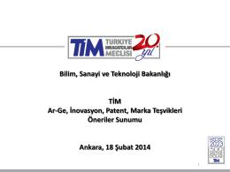 bilim teknoloji sanayi bakanlığı sunum pdf