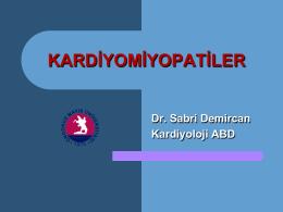 KARDİYOMİYOPATİLER - Prof. Dr. Sabri Demircan