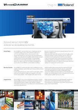 VersaCamm VS640i/540i/300i Broşür