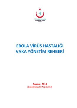 ebola virüs hastalığı vaka yönetim rehberi