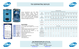 DTSB Serisi Tek Serpantinli Boiler