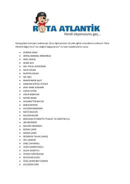 Rota Atlantik Ba - Darüşşafaka Cemiyeti