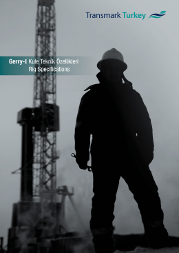 Gerry-I Kule Teknik Özellikleri Rig Specifications