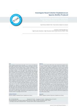 Investigate Nasal Colonize Staphylococcus Species Biofilm