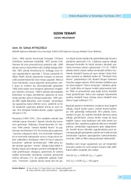OZON TERAPİ - Ankara Akupunktur Derneği